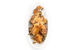 Saison cuite à la friteuse de poulet avec le sel gemme Images libres de droits