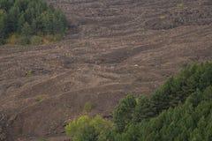 Saison d'automne sur le volcan de l'Etna image stock