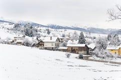 Saison d'hiver en Bulgarie Photo stock