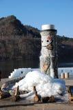 saison d'hiver sur l'île de Nami en Corée Photos libres de droits