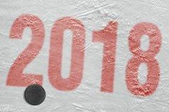 Saison d'hockey 2018 Images libres de droits
