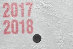 Saison d'hockey 2017-2018 Photos stock