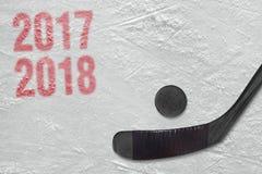 Saison d'hockey 2017-2018 Photos libres de droits