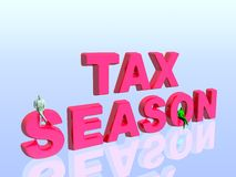 Saison d'impôts. Images stock