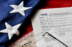 Saison d'impôts Images libres de droits