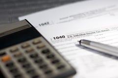 Saison d'impôts Image libre de droits