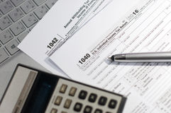Saison d'impôts Photos stock