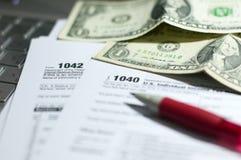 Saison d'impôts Photo libre de droits
