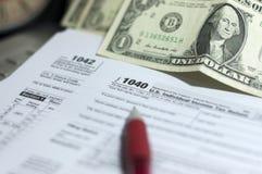 Saison d'impôts Photo stock