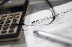 Saison d'impôts Images stock