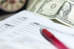 Saison d'impôts Image stock