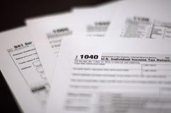 Saison d'impôts Photos libres de droits