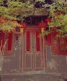 Saison de fête à la maison chinoise en bambou Images libres de droits
