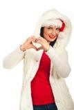 Saison de l'hiver d'amour de femme Image stock