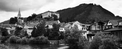 Saison de panorama de l'Autriche Images libres de droits