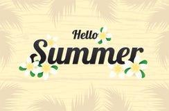 Saison de salutation d'été avec les fleurs ou l'été De floral de Plumeria Images stock