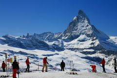Saison de ski Photographie stock