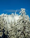 Saison de ski sur la montagne de grouse Images stock