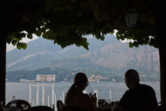 Saison de touristes de Como de lac Photographie stock libre de droits