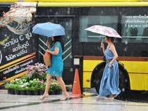 Saison des pluies à Bangkok Image libre de droits