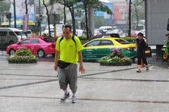 Saison des pluies à Bangkok Images stock