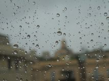 Saison des pluies dans la ville Images stock