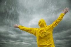Saison des pluies heureuse Photo libre de droits
