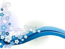 Saison florale bleue illustration de vecteur
