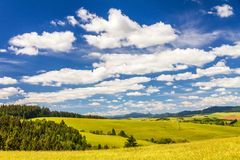 Saison rurale de paysage au printemps photo stock
