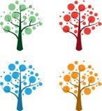 Saisonbäume Lizenzfreies Stockfoto
