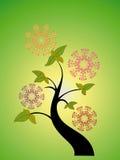 Saisonbaum und Blume Stockbild