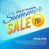 Saisonende-Sommerschlussverkauf-Plakat Stockbild