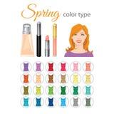 Saisonfarbpalette für Frühlingsart Stockfotos