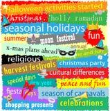 Saisonfeiertags-Wort-Wolke Lizenzfreies Stockfoto