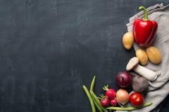 Saisonkochender Gemüsehintergrund Stockbild