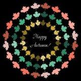 Saisonkonzept des minimalistic Herbstes des Vektors Lizenzfreies Stockbild