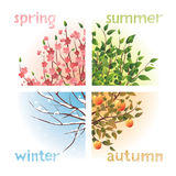 Saisons illustration stock