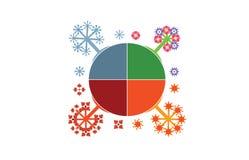 4 saisons illustration stock