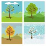 4 saisons illustration libre de droits