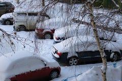 Saisons dans la ville Été, automne, hiver Photos libres de droits