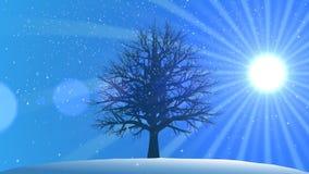 4 saisons : Hiver (fond animé) illustration stock