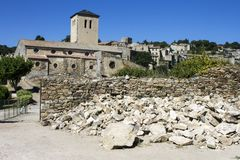 Saissac. The Chateau de Saissac, a ruined castle and one of the so-called Cathar castles, north-west of Carcassonne, France royalty free stock photo