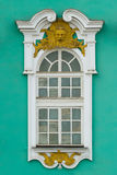 SAIT PETERSBURG, RUSSIAN FEDERATION – MAY 11,. 2014: Photo of The State Hermitage Museum exterior fragment - window Royalty Free Stock Image