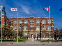 SAIT Polytechnic school buildings Royalty Free Stock Photo