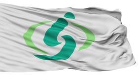 Saitama Capital City Isolated Waving Flag stock footage