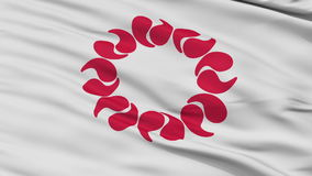 Saitama Prefecture Close Up Waving Flag stock video footage
