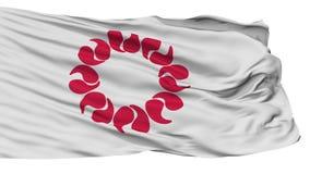 Saitama Prefecture Isolated Waving Flag stock footage