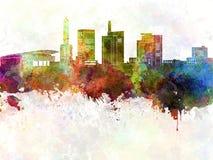 Saitama skyline in watercolor Stock Photos