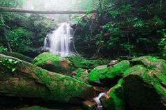 Saithip waterfall in Phu Soi Dao National Park Royalty Free Stock Image