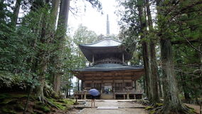 Saito West Tower Danjo Garan Complex in Koyasan. This edifice was built by Shinzen Daitoku, the successor to Kobo Daishi, based on the latter's plans for the Stock Image